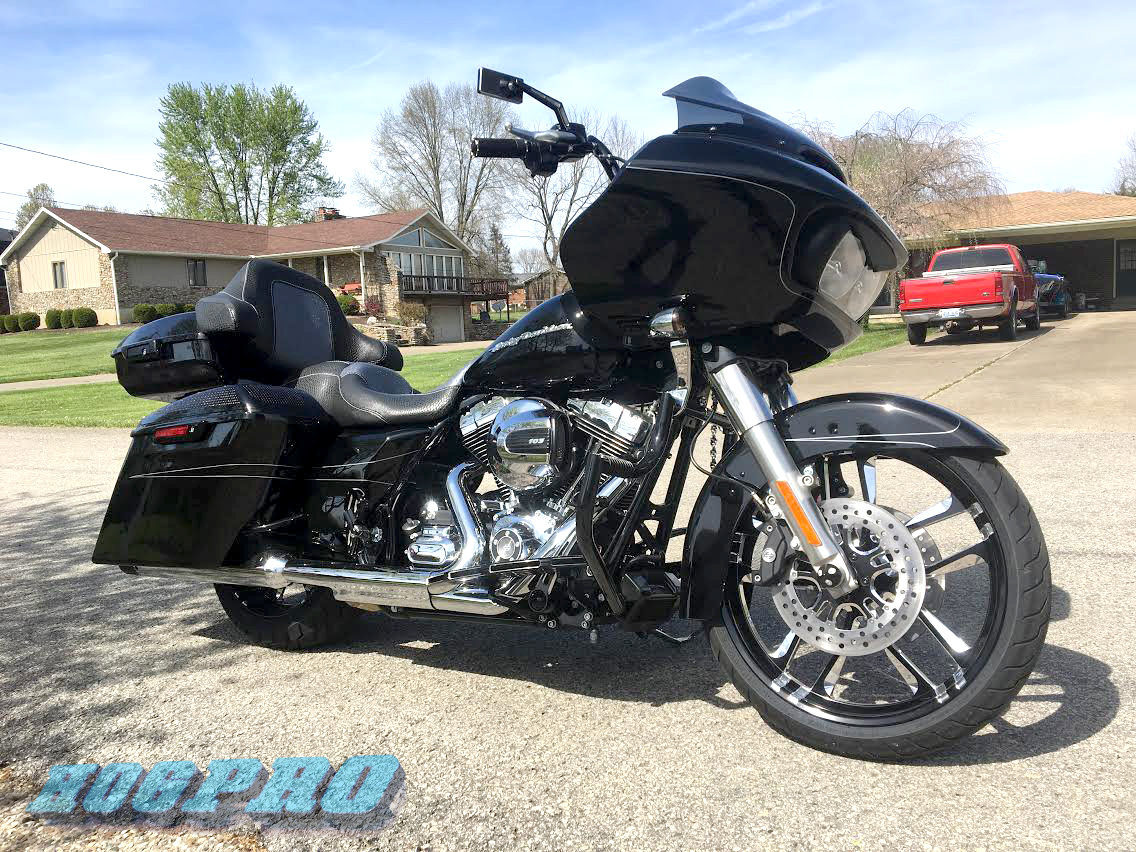 "#255 Hogpro Valor Vivid Black 21"" 18"" 2015 Roadglide Special ABS"