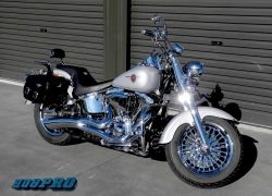 #234 Matrix Chrome 16x3.5 wheels 2003 Fatboy