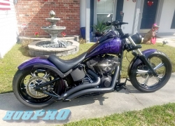 "#250 Performance Machine Platinum Cut Wrath 21"" 18"" Softail"