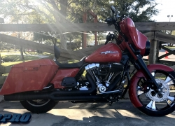 "#228 Syndicate Platinum Cut 21"" Streetglide"